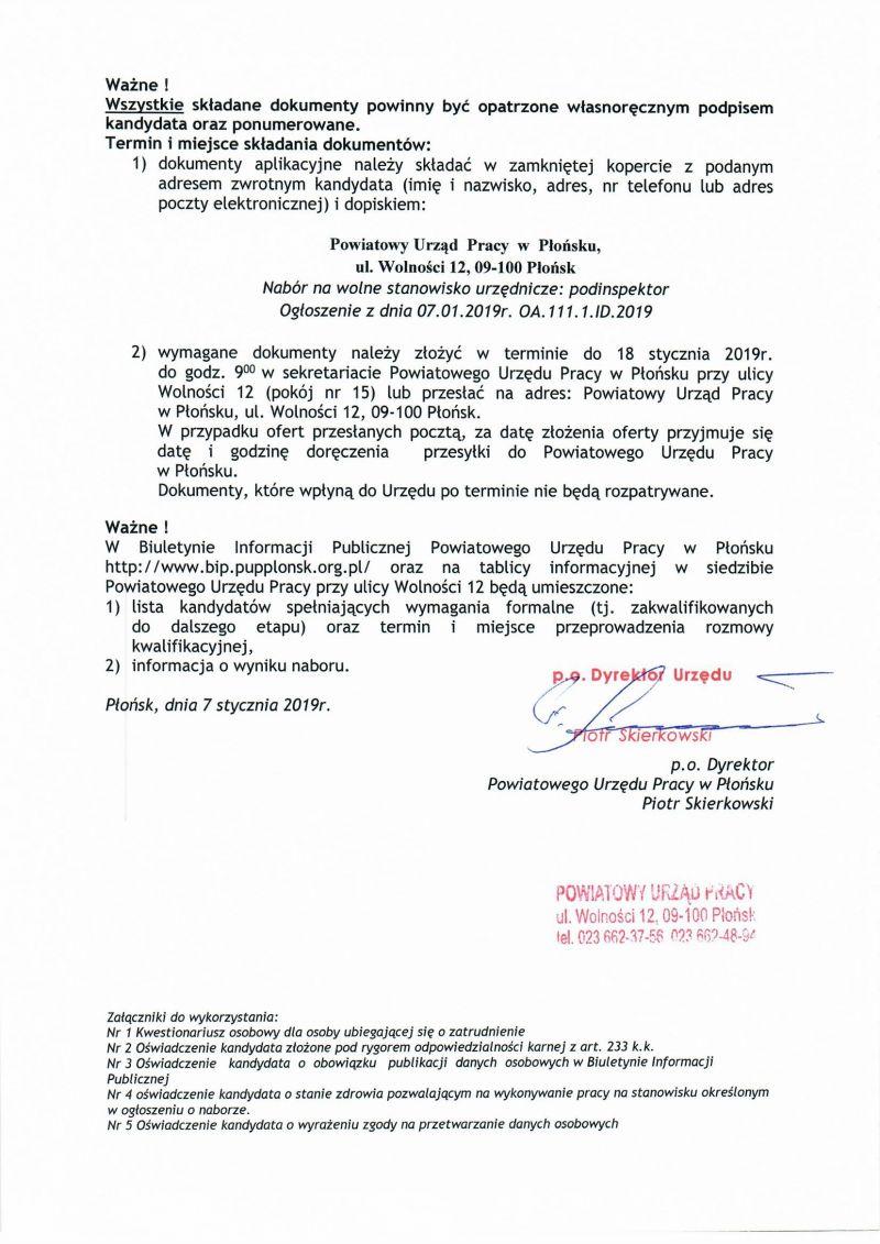 8b2ec627dc0e81 BIULETYN INFORMACJI PUBLICZNEJ Powiatowy Urząd Pracy w Płońsku